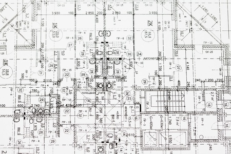 building plan: background of architectural drawing