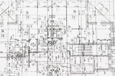Hintergrund der architektonischen Zeichnung Standard-Bild - 9528239