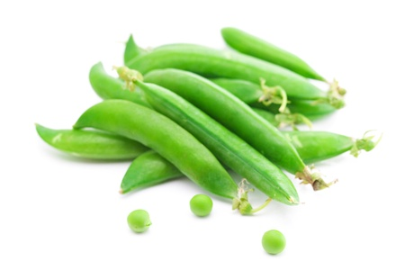 peas  isolated on white photo