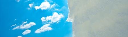 wedding dress and veil against the blue sky Stock Photo - 9995728