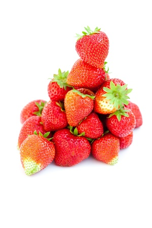 big juicy red ripe strawberries  isolated on white Stock Photo - 10617985