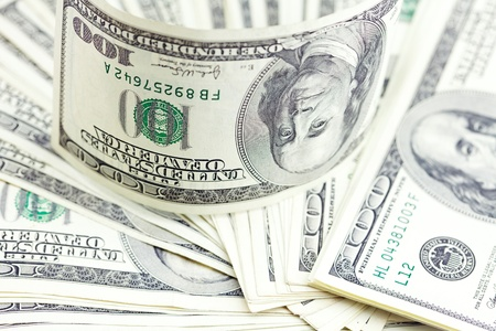 background of the dollar banknotes photo