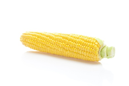 ripe yellow corn isolated on white Stock Photo - 11973379