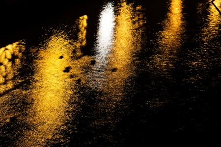 Night reflection in the river photo