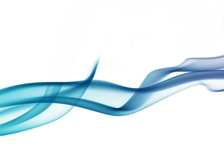 wave and smoke of different colors isolated on white Stock Photo - 13640888