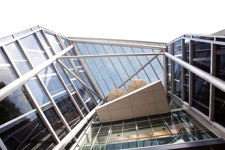 high-tech exterior of a modern office building photo