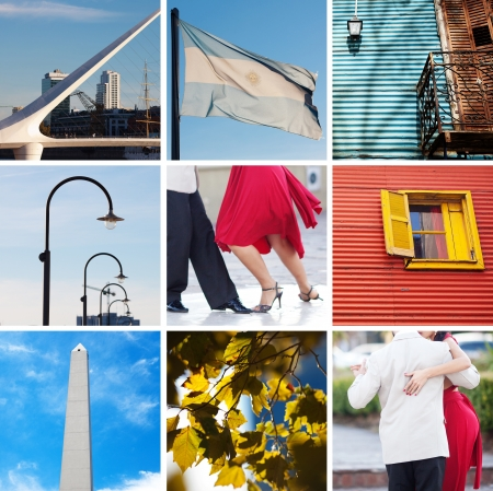 collage of sights and traditions of Buenos Aires photo
