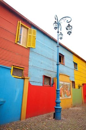 The colourful buildings of La Boca Buenos Aires Argentina