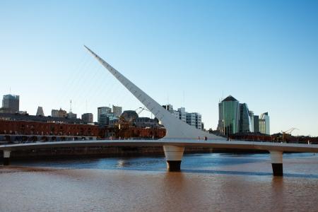 mujer: Puente De La Mujer Bridge Of The Women designed by Santiago Calatrava Buenos Aires Argentina
