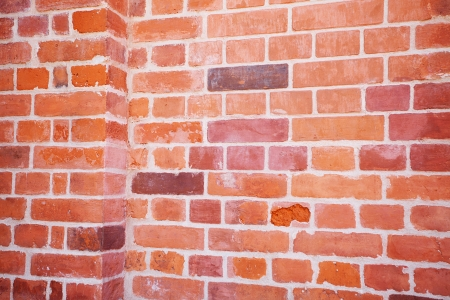 background of red brick wall photo