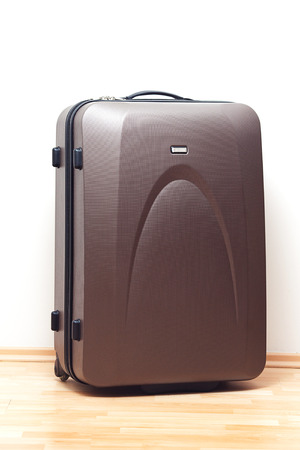 big brown suitcase for travel photo