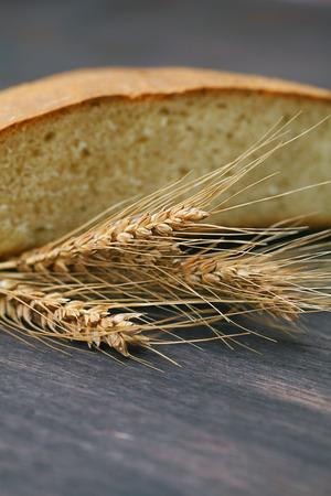 bread spikes on a wooden surface Standard-Bild