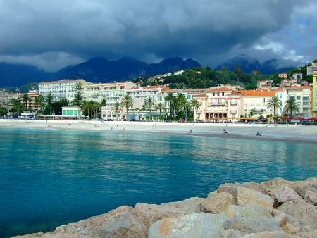 mediterranean forest: Popular resort on French Riviera,Menton