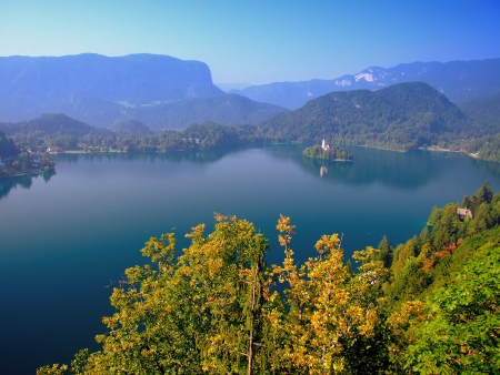 bled:  Island and the lake of Bled