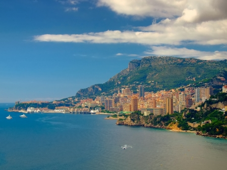hotel casino: Monte Carlo panorama view,Monaco,Europe Stock Photo