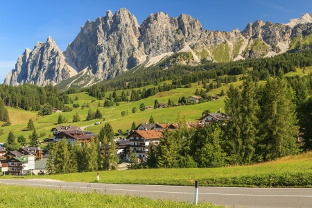 Beautiful Dolomite mountains near Cortina DAmpezzo,Pomagagnon group,Sudtirol,Italy photo