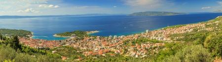 Makarska the famous resort in Croatia,Dalmatia,Europe photo