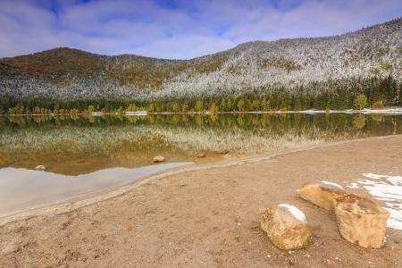 anna: Beautiful autumn landscape of Saint Anna lake