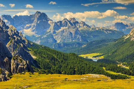 sudtirol: Beautiful landscape in the Dolomites,Sudtirol,Italy,Europe Stock Photo