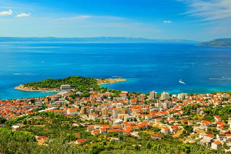 Makarska the famous resort in Croatia,Dalmatia,Europe Imagens