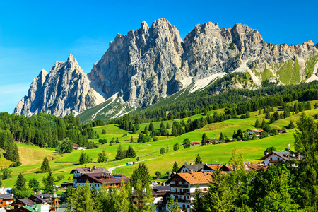 Alpine resort in the Dolomites,Cortina D Ampezzo,South Tyrol,Italy,Europe Stock Photo