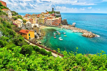vernazza: Panorama of Vernazza,Cinque Terre National Park,Liguria,Italy,Europe
