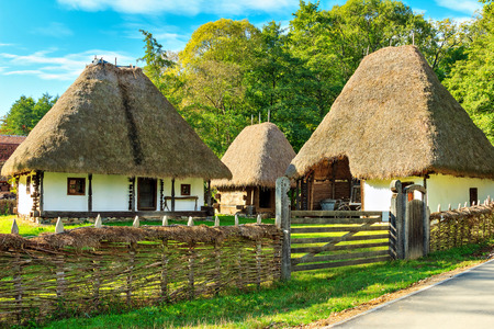 The old peasant houses,Astra village museum,Sibiu,Transylvania,Romania,Europe Banque d'images