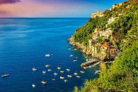 Beautiful bay and famous resort near Amalfi,Conca dei Marini,Italy,Europe