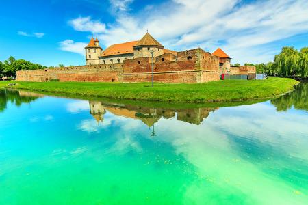 Famous medieval castle in Transylvania, Fagaras, Romania, Europe Editorial