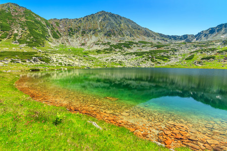 Wonderful tarn in the high mountains,Retezat National Park,Carpathians,Transylvania,Romania,Europe 版權商用圖片
