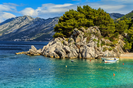 lagoon: Stunning summer landscape with Adriatic Sea in Croatia,Europe Stock Photo