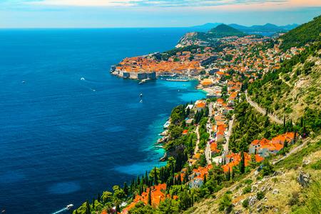 Majestic summer holiday destination, admirable panorama of Dubrovnik with Adriatic sea, Dalmatia, Croatia, Europe 写真素材