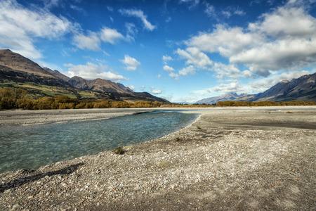 wakatipu: Lake Wakatipu between Queentown and Glenorchy in the South Island of New Zealand. Stock Photo