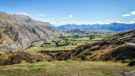 the south island: Near Lake Hawea in the South Island of New Zealand.