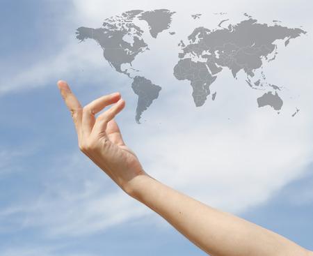 poblacion: geograf�a, la poblaci�n y el concepto de la paz: D�a Mundial de la Poblaci�n Foto de archivo