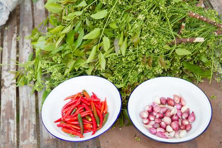quinine: Azadirachta indica A. Juss. Var. Siamensis Valeton with chilli and Garlic