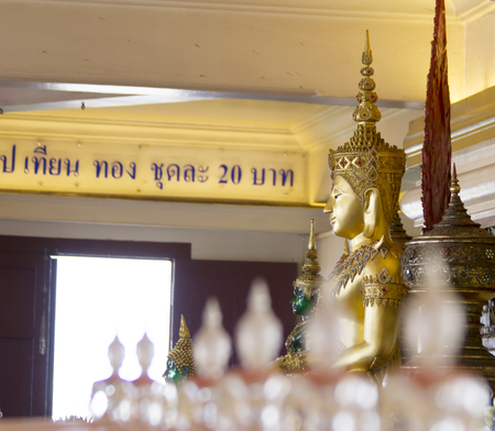 vihara: buddha statue in wall at Thailand