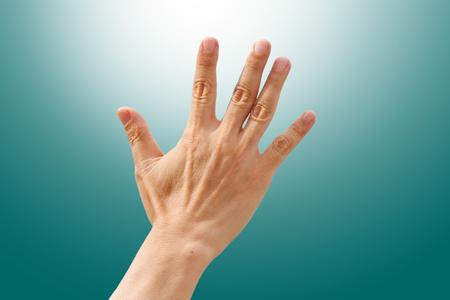 not open: Back right hand high five, bye bye symbol