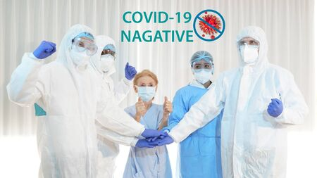 doctor and disease control experts team can handle patients COVID 19, coronavirus patient has recovered. prevention, immunization keep vital organ systems functioning and corona virus 3D Rendering