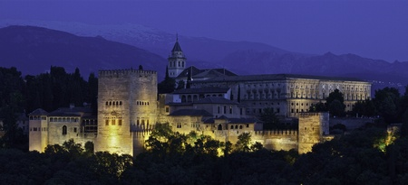 Alhambra Granada Spain Night Stock Photo - 12113835