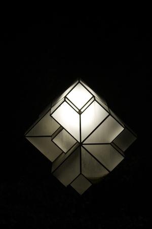 Street light in Granada Spain isolated on black (midnight)