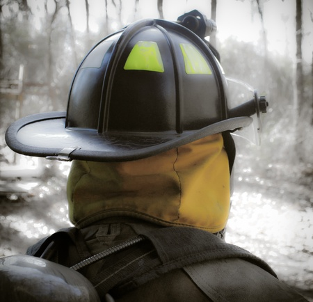 Fire fighter Helmet photo