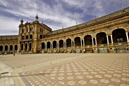 espana: Plaza de Espana Seville Spain Editorial