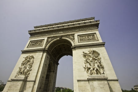 The Arc de Triomphe in Paris France Stok Fotoğraf