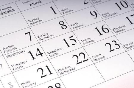 calender, schedule, organizer Stock Photo