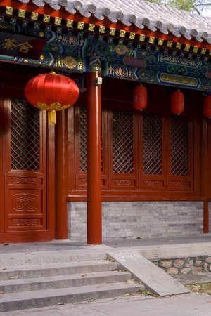tea house: facade of a traditional style tea house