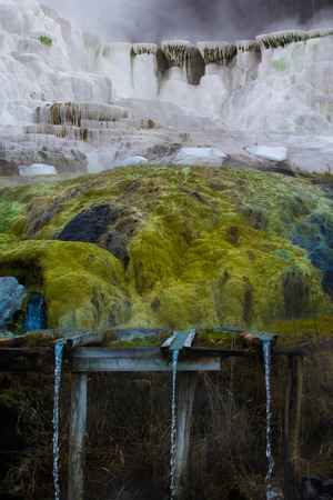 thermal spring: Egerszalóks real attraction, on the southern side of the village, is the thermal spring erupting from deep in the earth and limestone hill created by water runoff, which over the years has come to be known as salt hill. The 65-68 C◦ medicinal water