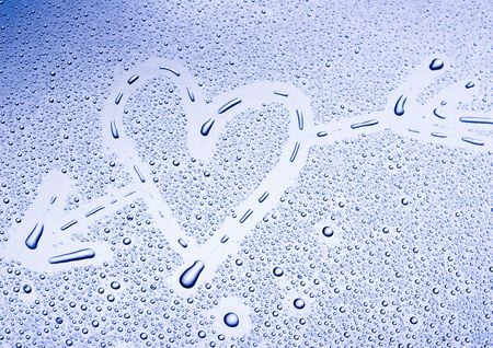 aqueous: Water heart Stock Photo
