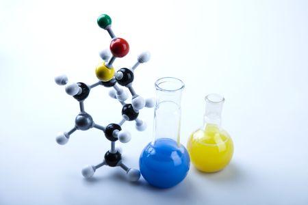 quimica organica: Vidrio de laboratorio   Foto de archivo
