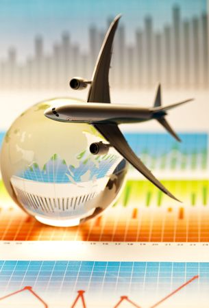 oversea: Air Travel Stock Photo